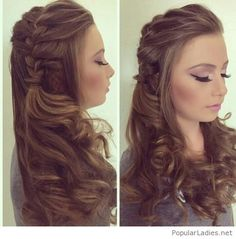 I love the braid and the makeup too