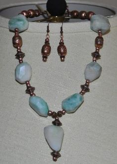 Copper & Stone Necklace Set - SOLD