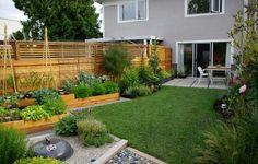 The Raised Bed Garden Plans for Minimalist Gardening : Contemporary Raised Garden Beds Tucked Round Edges