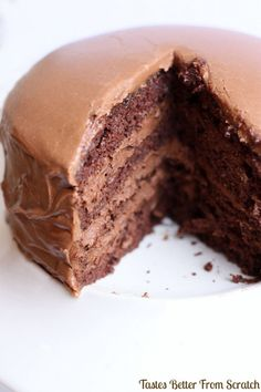 Chocolate Cake with Chocolate Mousse Filling – Tastes Better From Scratch