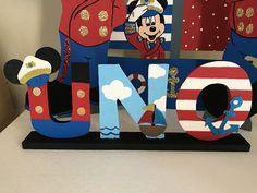 Mickey captain foam decoration Mickey Birthday Cakes, Mickey Mouse Birthday Decorations, Mickey 1st Birthdays, 1st Birthday Themes, Sailor Birthday, Sailor Party, Pirate Birthday, Fiesta Mickey Mouse, Baby Mickey