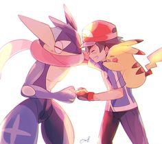 Ash and his Greninja