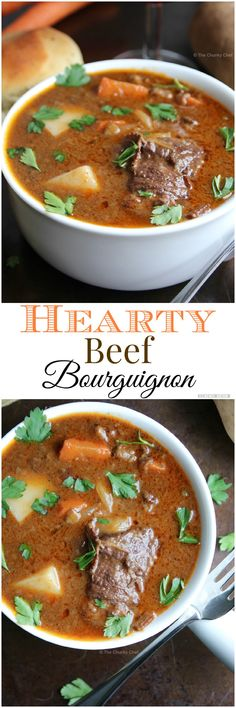Beef Bourguignon - Such a classic recipe... revamped a little bit and easy to make for your whole family. Try this beef bourguignon soon!