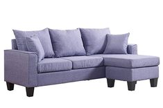 Divano Roma Furniture Modern Linen Fabric Small Space Sectional Sofa with Reversible Chaise (Light Grey) -- For more information, visit image link. (This is an affiliate link) Sectional Patio Furniture, Fabric Sectional, Grey Furniture, Sectional Sofa, Living Room Furniture, Pallet Furniture, Couches, Furniture Ideas, Small Space Sectional