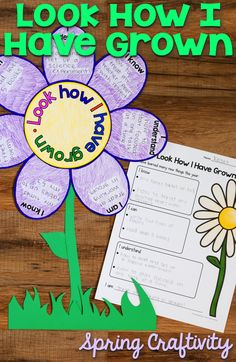 "Look How I Have Grown!  Students reflect on their growth over the past year by writing and drawing about what they ""know, understand, can do and are"".  This is the perfect spring craft for your classroom."