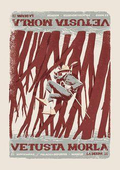 Vetusta Morla - Gig poster on Behance / Juan Esteban Rodriguez