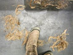 Barberette's eye view of the floor:)
