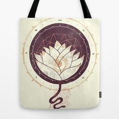 Lotus Tote Bag by Hector Mansilla - $22.00