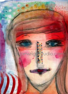 ivie  mixed media print by AngelaCartwright on Etsy, $45.00