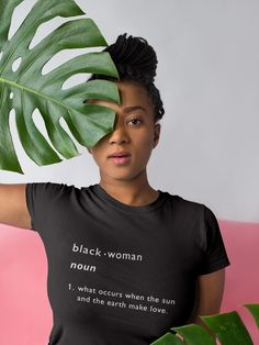 Black Woman: This shirt is an original MyBrownBox Design. Plagiarism is prohibited. Sizing: Shirts are fitted and run small. If you desire extra space, order a size up. Black Girl Shirts, Black Girls Rock, Black Girl Magic, Afro Punk Fashion, Fit Black Women, Black Women Quotes, Sexy Women, Girl Outlines, Black Girl Aesthetic