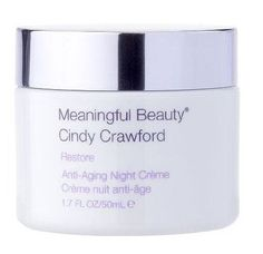 She had to do a shoot in Paris and a model friend recommended Meaningful Beauty Anti-aging Night Creme.