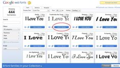 How to add google web fonts to your blogger blog In four easy steps! Pick your font. Go to Google Web Fonts and add the font you like to your collection. In this example we're going to pick Fredericka the Great font. After you added it to your fo...