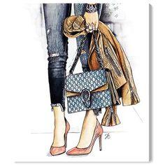 Fashion Dolls, New Fashion, Trending Fashion, Blue Artwork, Illustration Mode, Fashion Wall Art, Thing 1, Oliver Gal, Fashion Sketches