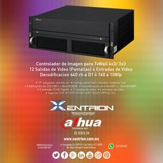 Controlador de Imagen Dahua Security Products. para CCTV VideoWall 4x3/ 3x3 12 Salidas de Video de venta en Xentrion S.A. de C.V.  #NoMeVengasConQueNunca   Contáctanos info@xentrion.com.mx • 01 [55] 5662 6377  WhatsApp: [55] 1536 3103  Visítanos en nuestra Tienda Ubicada en: Insurgentes Sur 1768 P.B. • Col. Florida • Cp. 01030 • Del. Alvaro Obregón • Ciudad de México  www.xentrion.mx