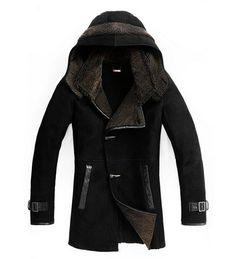 NZP1001 top quality winter genuine leather jacket men with fur  men coat winter