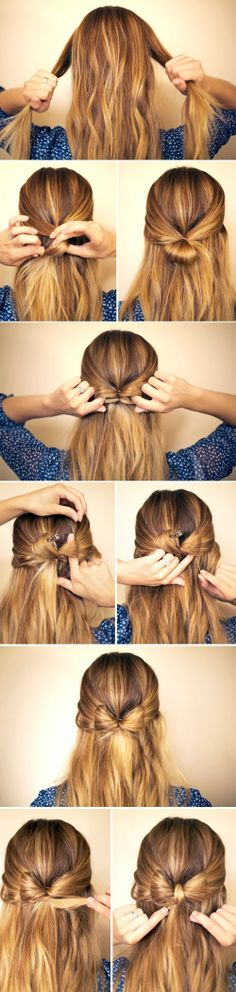 Adorable and Easy Hairbow Tutorial [PHOTOS] | Ryan Seacrest - The official music and entertainment news site of American Idol host and American Top 40 on air radio personality!