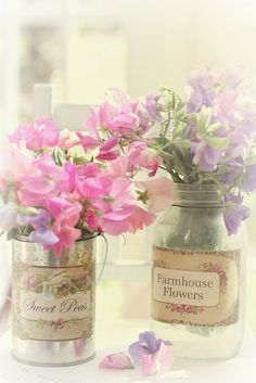 Sweet peas by lucia and mapp, via Flickr
