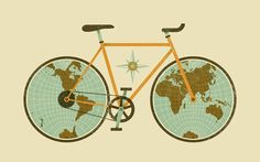 Illustration about the global advantages of biking || Jude Landry