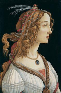 Sandro Botticelli (?) (1444/45-1510), Idealized Female Portrait (Portrait of Simonetta Vespucci as a Nymph), Poplar panel