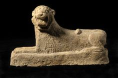 Pottery Figurine of a Recumbent Lion - LO.874 For Sale | Antiques.com | Classifieds