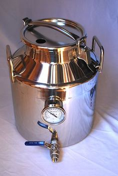 Works as a boil pot AND works as a secondary fermenter for 5 Gallon Homebrew Batches. Stainless Steel Beer and Wine Fermenter, 7.5 gallons.