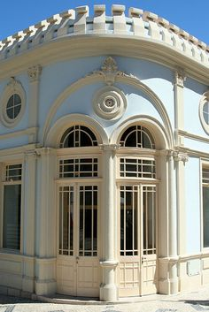 The beautiful building of the Casino Oceano, Figueira da Foz - Portugal Beautiful Architecture, Beautiful Buildings, Beautiful Places, The Doors Of Perception, Casino Hotel, Yellow Houses, Red Roof, Spain And Portugal, Grand Entrance