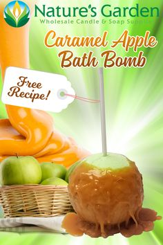 Free Caramel Apple Bath Bomb Recipe by Natures Garden