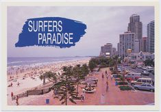 Genre:  postcard Year Created:  c1970-2000 Contributor:  Murray Views Collection Gold Coast Queensland, Queensland Australia, Holiday Destinations, Favorite Holiday, Surfers, Paradise, History, Beach, Movie Posters