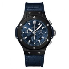 95cd988e567f  Reloj  Hublot Big Bang Ceramic Blue de movimiento automático con función  de cronógrafo.
