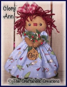 Primitive RaGgEdY ANNIE doll CHRISTmas ** small TREE TOPPER ** CUSTOM ORDER | eBay