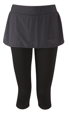 Women's running skort - Merino compression tight with skirt on top
