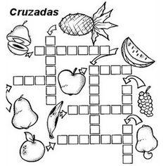 Resultado de imagem para palavras cruzadas para imprimir alimentos