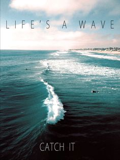 Life's a wave  So catch it