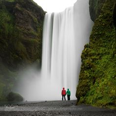 Skogafoss For Two by naturephotographie. Please Like http://fb.me/go4photos and Follow @go4fotos Thank You. :-)