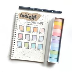 How to put your washi collection in your bullet journal? #bujo #bulletjournal #washi