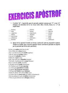 Exercicis apòstrof by ostrolica via slideshare
