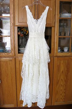 Cream / Ivory tattered alternative bride bohemian by LilyWhitepad
