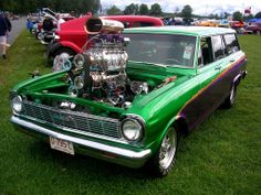 1965 #Chevy #Nova #Wagon with #Two #Blowers #groovy #grocery getter for the #hotrod #SoccerMom #LetsGetWordy #HRP #FamilyCruiser
