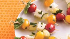 Fancy Italian skewers will earn raves at any gathering. Assemble them in only 30 minutes!