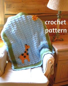 Giraffe in the Sun - Crochet Baby Blanket