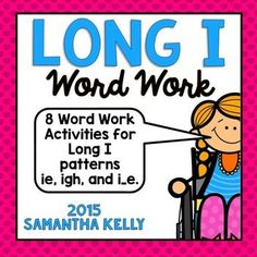 Long I Word Work is fun with this pack! Includes Long I patterns i_e, ie, and igh using this pack!Here is what you get:3 No-Prep PrintablesRead, Highlight, and Write Interactive ReaderSentence Scramble StationSorting Activity Write the Room CenterLong Vowel Dictionary Writing StationBoggle GameLong I PuzzlesEnjoy this activity?