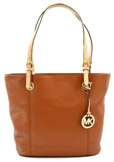 Michael Kors Jet Set Item Genuine Leather Large Tote Shoulder Bag Purse, Work School Office Travel (Luggage) On Sale Now $198.00!