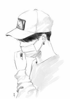 Read capitulo 7 (parte dos de sabe cuantas :b) from the story adoptada Por bts?[bts y tu] by anitacachorrita with reads. Jimin Fanart, Kpop Fanart, Kpop Drawings, Pencil Art Drawings, Drawing Faces, Drawings For Boys, Cute Boy Drawing, Mask Drawing, Image Swag