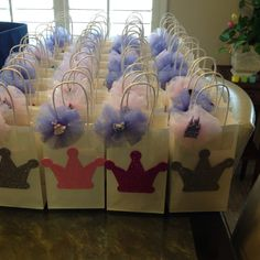 Princess party favor bags made by moi!