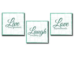 """Park Designs Word Play Red Wood Luncheon Napkin Holder /""""Live Laugh Love/"""""""