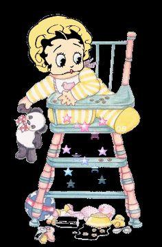 baby boop | Baby Betty Boop photo BabyInHighchair1.gif