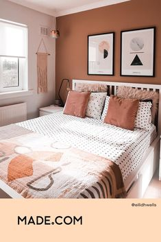 Bedroom Wall Designs, Bedroom Wall Colors, Bedroom Color Schemes, Room Ideas Bedroom, Small Room Bedroom, Home Decor Bedroom, Small Bedrooms, Home Room Design, Room Inspiration