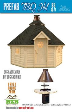 Highly affordable small and tiny log cabin kits that you can assemble yourself in days! Small Log Cabin Kits, Diy Log Cabin, Small Cabin Plans, Small House Floor Plans, Cabin House Plans, Prefab Tiny House Kit, Tiny House Kits, Tiny House Trailer, Tiny House Cabin