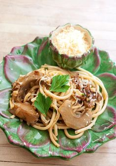 Bucatini with Porcini and Artichokes
