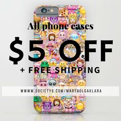 #emoji #emoticons #sale #society6 #phone #case #cover